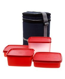Signoraware Director Special Lunch Box Set With Bag - Red