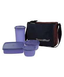 Signoraware Best Lunch Box With Bag - Mauve