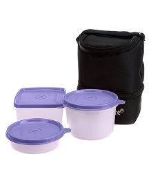Signoraware Trio Lunch Box With Bag - Purple