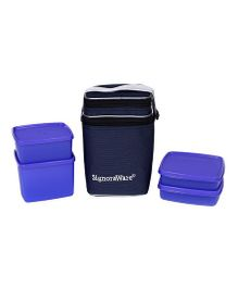 Signoraware Director Special Lunch Box Set With Bag - Purple