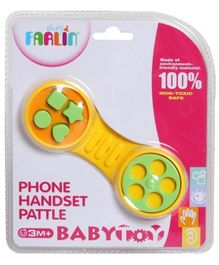 Farlin Phone Handset Rattle - Yellow Green