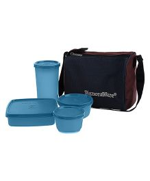 Signoraware Best Lunch Box With Bag - T Blue