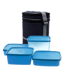 Signoraware Director Special Lunch Box Set With Bag - Blue