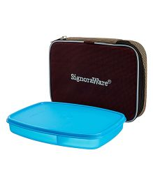 Signoraware Slim Lunch Box With Bag Blue - 610 ml