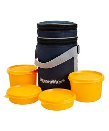 Signoraware Executive Lunch Box Set With Bag Deep Yellow - 15 cm