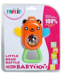 Farlin Little Bear Rattle - Orange