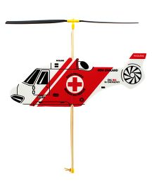 Guillow's Rubber Powered Foam Helicopter -  Red
