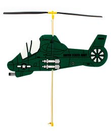 Guillow's Rubber Powered  Foam Helicopter Model - Green