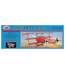 Guillow's Fokker DR0I Triplane World War 1 Fighter 3 Mode Flying Model