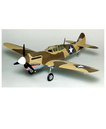 Guillow's British p-40 Warhawk World War II Fighter 3 Mode Flying Collector Model