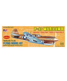 Guillow's British P-40 World War II Fighter Rubber Powered Flying Collector Model