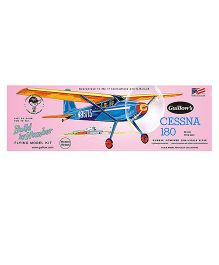 Guillow's Cessna 180 Semi Scale Rubber Powered Balsa Wood Model Plane Kit