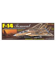 Guillow's Sleek US Navy F-14 Tomcat Shipboard Fighter Bomber Non Flying Collector Model Plane