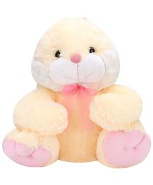 Dimpy Stuff Bunny With Ribbon Cream - Height 19.7 inch