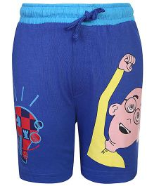 Motu Patlu Bermuda Patlu Idea Print - Royal Blue