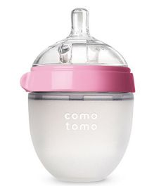 Comotomo Natural Feel Baby Bottle Pink Single - 150 ml