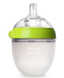 Comotomo Natural Feel Baby Bottle Green Single - 150 ml