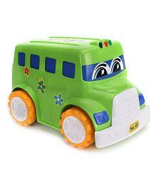Lovely Friction Powered School Bus Big - Green