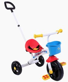 Chicco Tricycle With Front Storage Basket & Push Handle - Blue Red