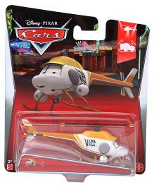 Disney Pixar Cars Ron Hover Hellicopter - Yellow And White