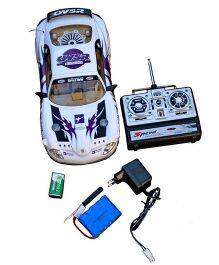 Adraxx New Style Peugeot OVSR Technology RC Car - White And Purple
