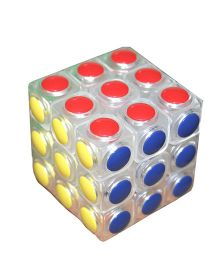 Adraxx 3 x 3 Anti Pop Up Mechanism Rubik's Cube - Multi Colour