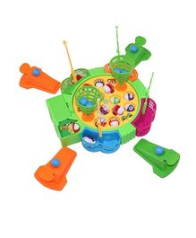 Adraxx 2 In 1 Indoor Fishing And Bouncing Basketball Game Toy Set