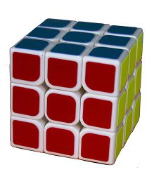 Adraxx Extra Smooth 3 x 3 Rubik Cube For Fast Movement - Multi Colour