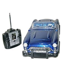 Adraxx European Vintage Style Remote Controlled Car - Blue