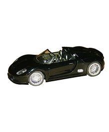 Adraxx Metal Die Cast Licensed Porsche Sports Car - Black