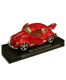 Adraxx Metal Die Cast Licensed VW Beetle Sports Car - Red