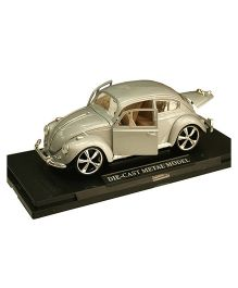 Adraxx Metal Die Cast Licensed VW Beetle Sports Car - Silver