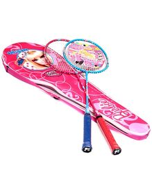 Barbie Badminton Racket With Cover Pink - Length 66 cm