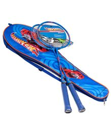 Hotwheels Badminton Racket Set With Cover Blue - Length 66 cm