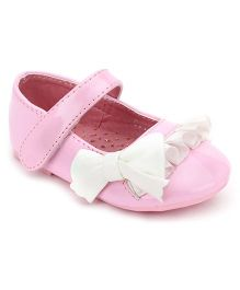 Bash Belly Shoes With Bow And Ruffle Detailing - Light Pink And White