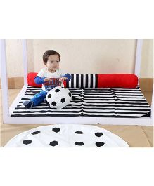My Gift Booth Kids Bed Set Football Theme - Black And Red