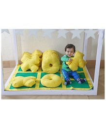 My Gift Booth Kids Bed Set Criss Cross Theme - Yellow And Green