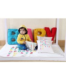 My Gift Booth Kids Bed Set Baby And Alphabet Theme - Multicolor