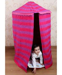 My Gift Booth Kids Hanging Tent With Floor Bed - Pink And Purple
