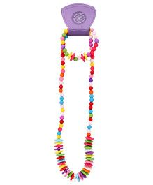 Pikaboo Flat Beads Jewellery Set - Multicolor