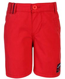 Nauti Nati Shorts With Logo Patch - Red