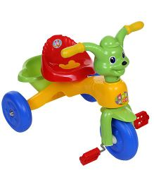 Mee Mee Cheerful Tricycle With Music Yellow Green - CH-9888