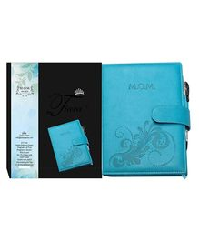 Tiara Diaries Pregnancy and Baby Journal Mom Diaries Blue