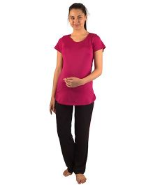 Morph Maternity Active Wear Set - Pink And Black