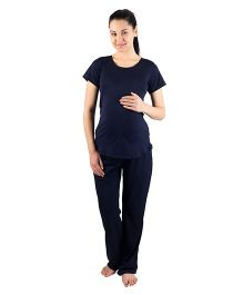 Morph Maternity Active Wear Set - Navy Blue
