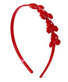 Disney Hair Band With Studded Diamond - Red