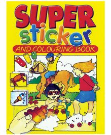 Super Sticker And Colouring Book - English