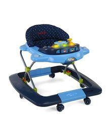 Luv Lap Musical Baby Walker Cum Rocker Blue - 18151