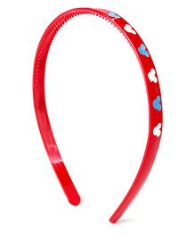 Disney Hair Band Minnie Mouse Face Print - Red
