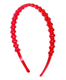 Disney Minnie Mouse Face Design Hair Band - Red